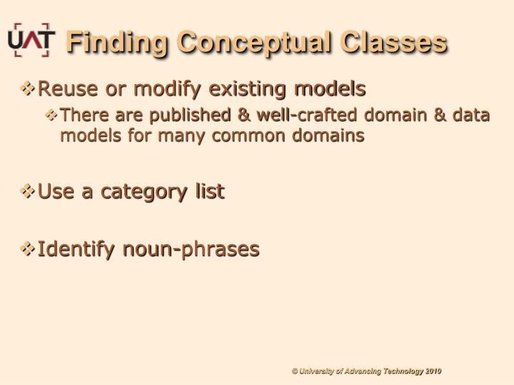 Finding Conceptual Classes