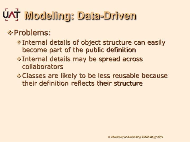 Modeling: Data-Driven