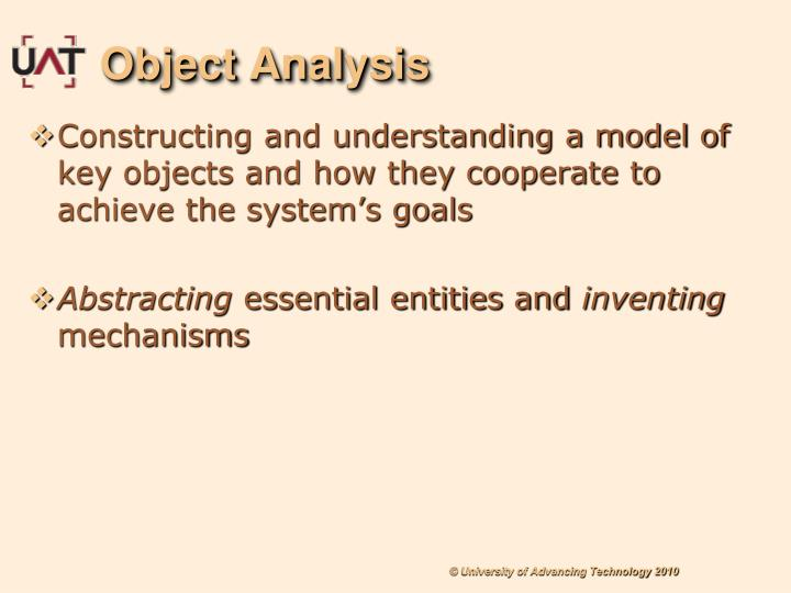 Object Analysis