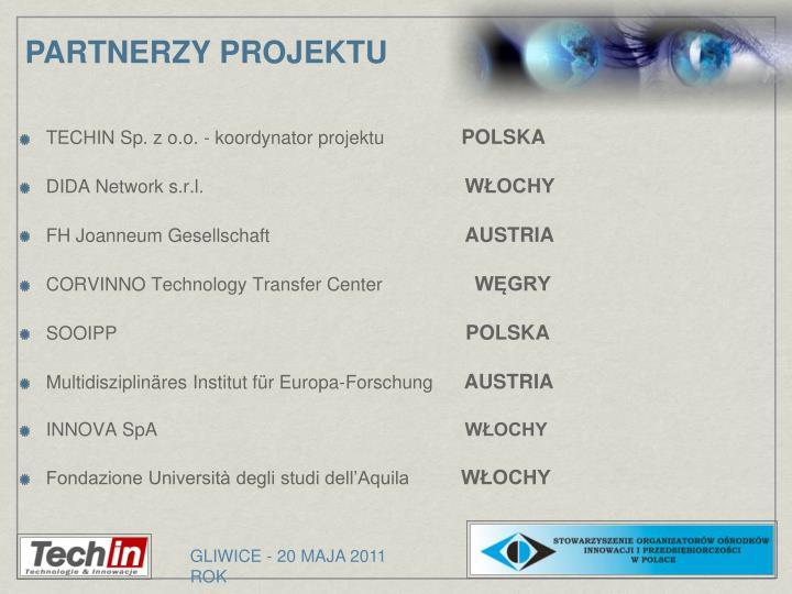 TECHIN Sp. z o.o. - koordynator projektu