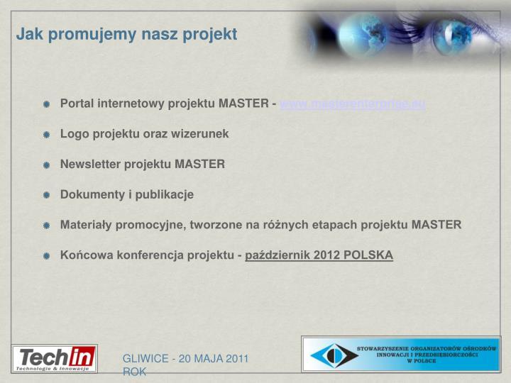 Portal internetowy projektu MASTER -