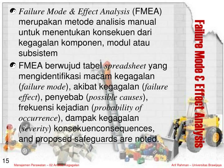 Failure Mode & Effect Analysis