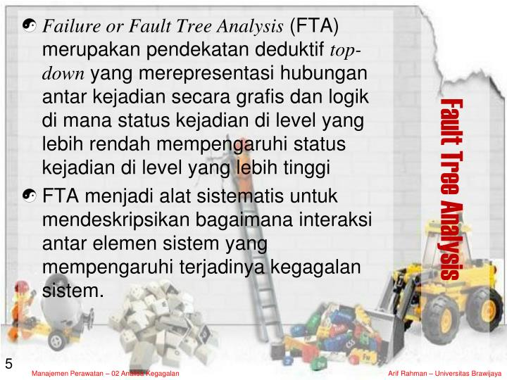 Failure or Fault Tree Analysis