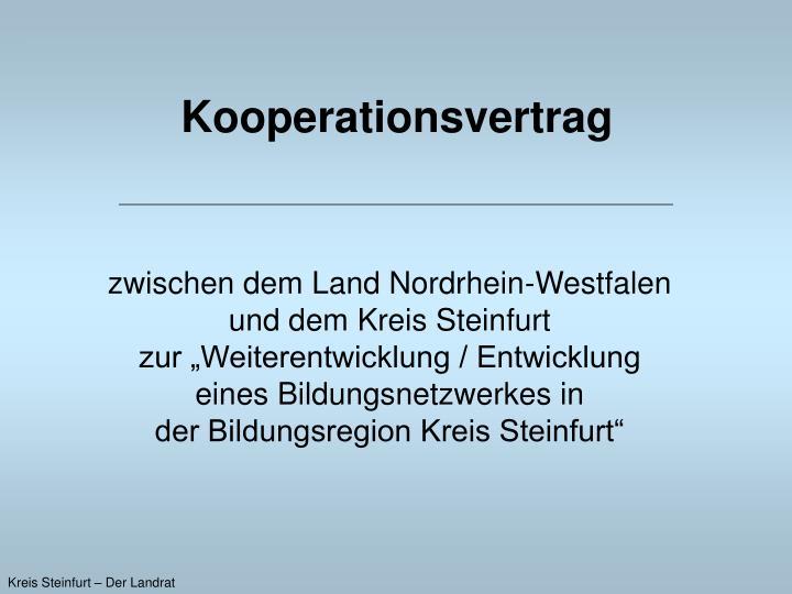 Kooperationsvertrag