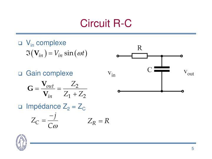 Circuit R-C