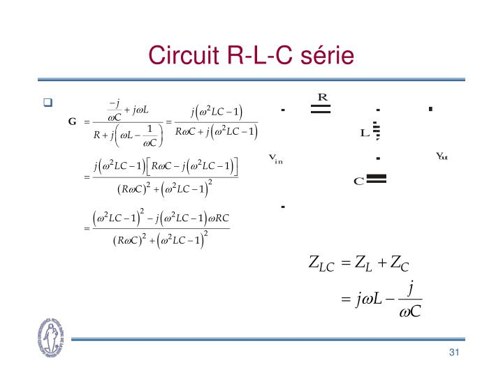 Circuit R-L-C série