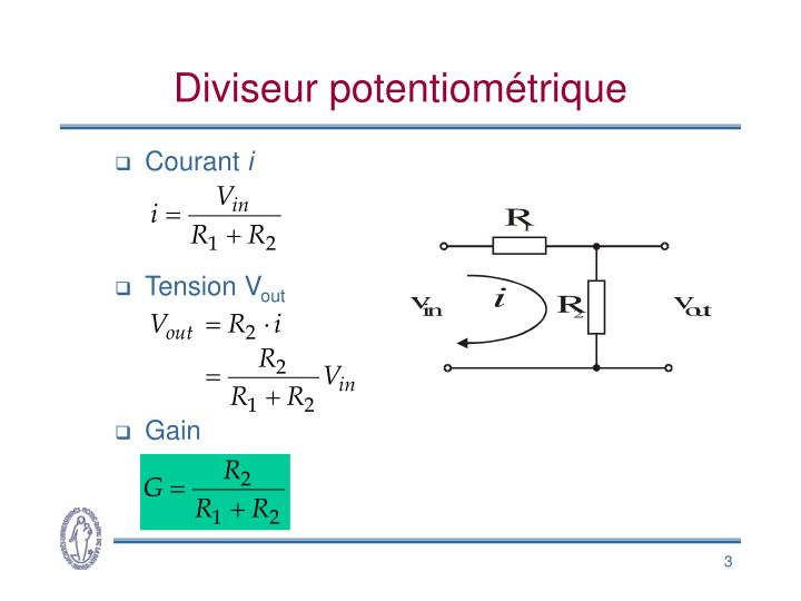 Diviseur potentiom trique