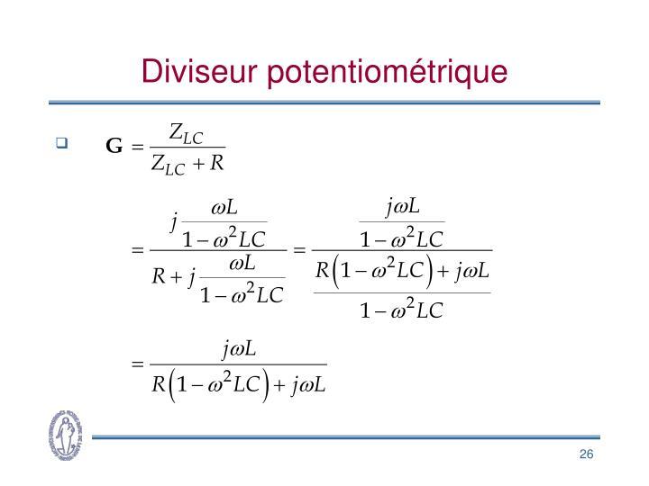 Diviseur potentiométrique
