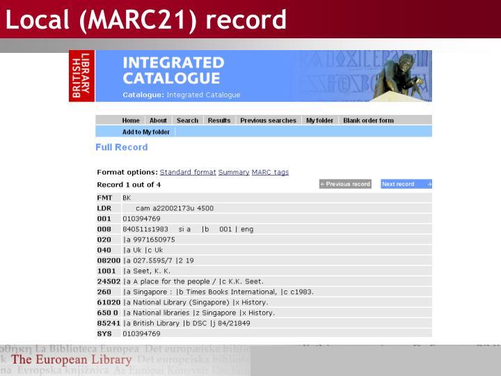 Local (MARC21) record