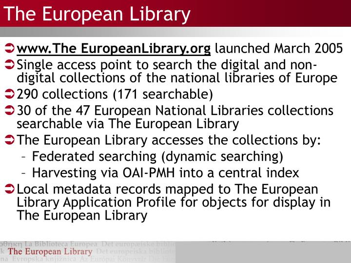 The european library