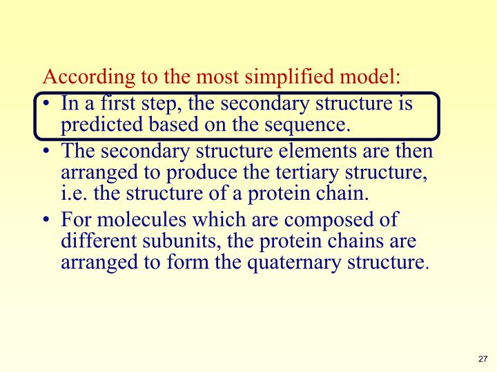 According to the most simplified model: