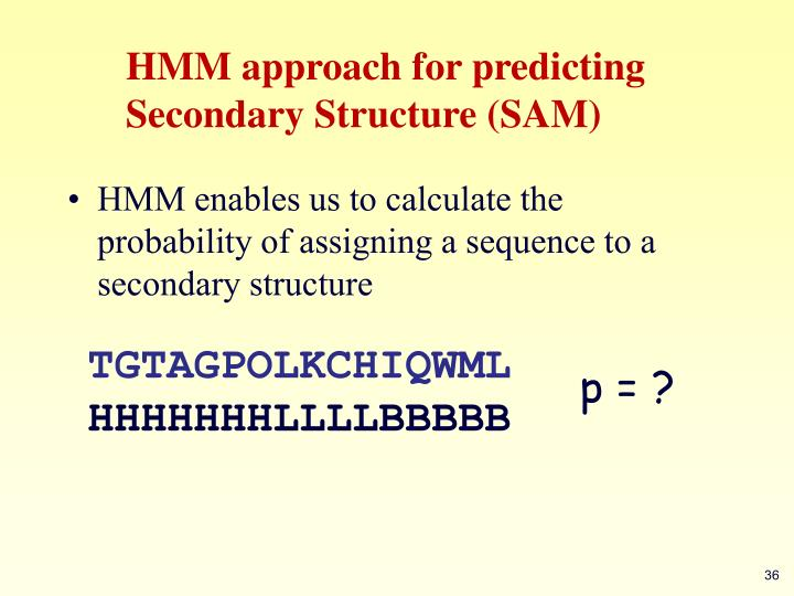 HMM approach for predicting