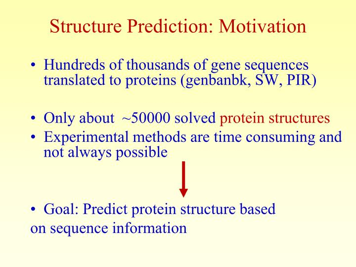 Structure Prediction: Motivation