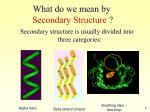 what do we mean by secondary structure1