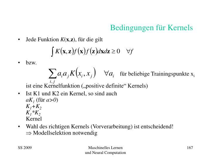 Bedingungen für Kernels