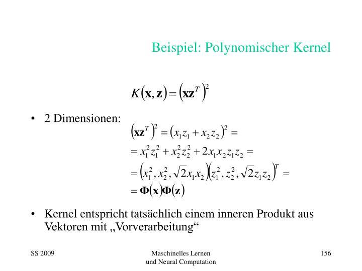 Beispiel: Polynomischer Kernel
