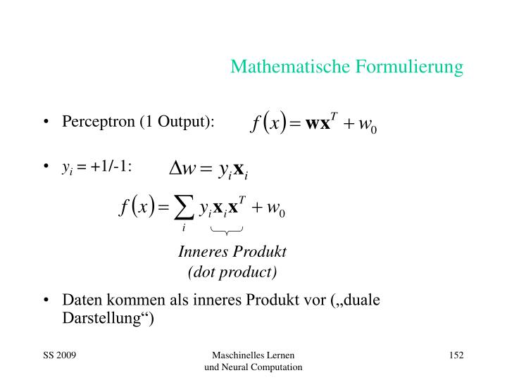 Mathematische Formulierung