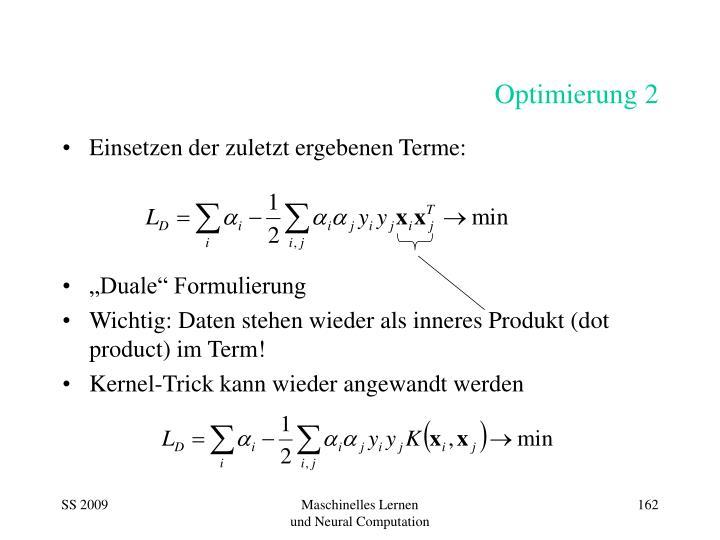 Optimierung 2