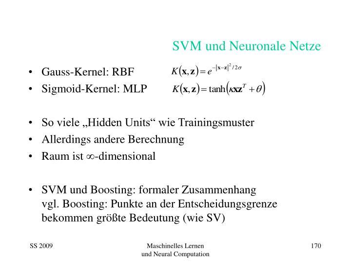 SVM und Neuronale Netze
