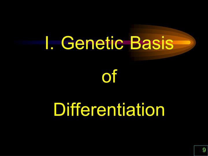I. Genetic Basis