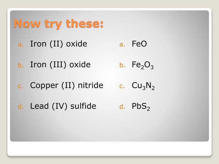 Iron (II) oxide
