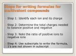 steps for writing formulas for multivalent compounds