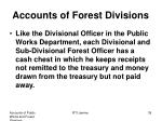 accounts of forest divisions