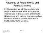 accounts of public works and forest divisions2