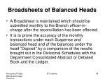 broadsheets of balanced heads