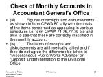 check of monthly accounts in accountant general s office1