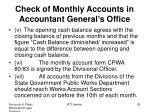 check of monthly accounts in accountant general s office2