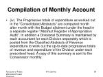 compilation of monthly account3