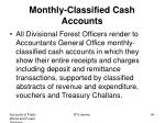 monthly classified cash accounts