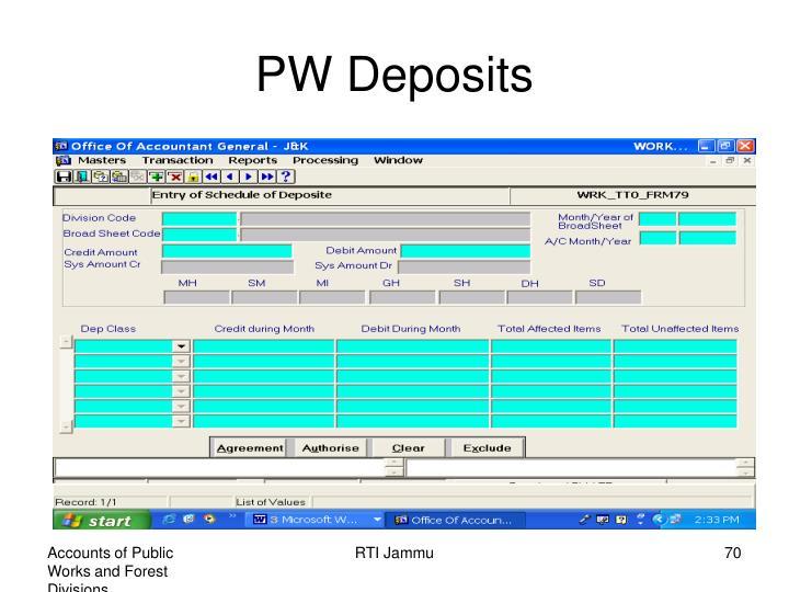 PW Deposits