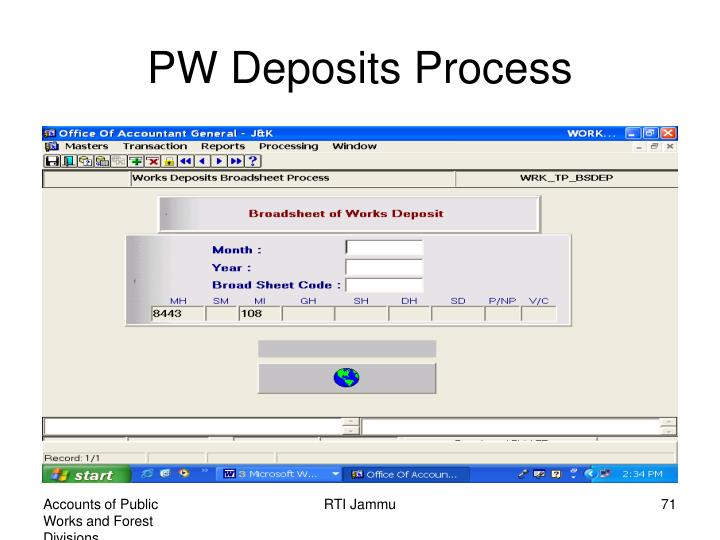PW Deposits Process