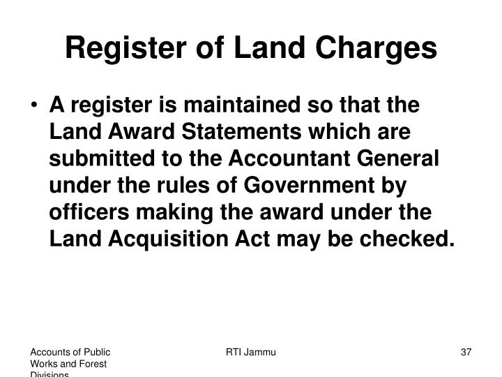 Register of Land Charges