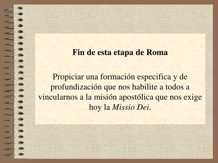 Fin de esta etapa de Roma