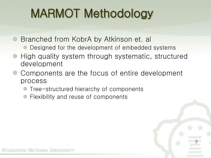 Marmot methodology