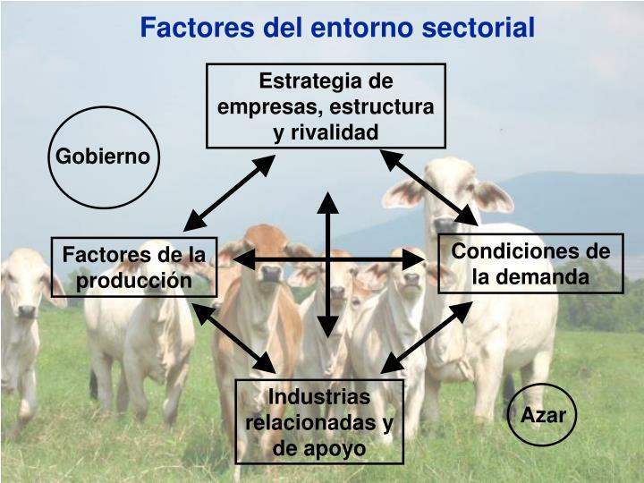 Factores del entorno sectorial