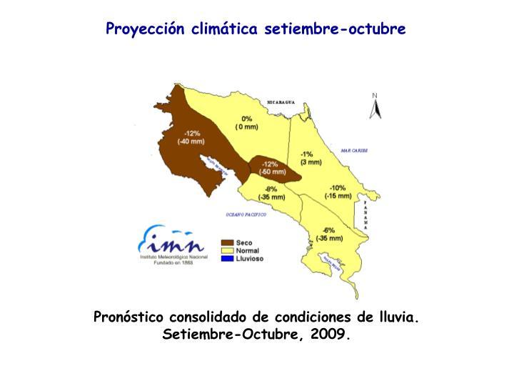 Proyección climática setiembre-octubre