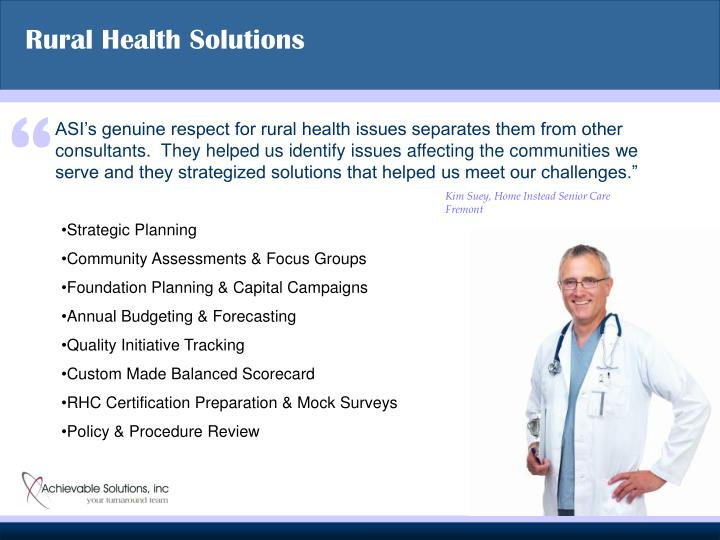 Rural Health Solutions