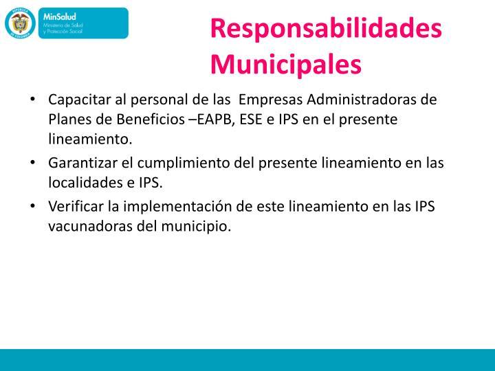 Responsabilidades Municipales