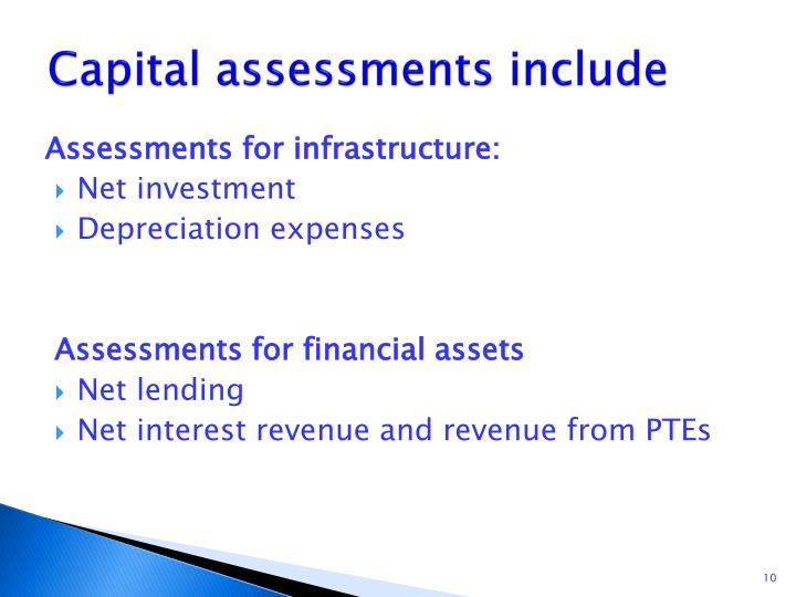 Capital assessments include