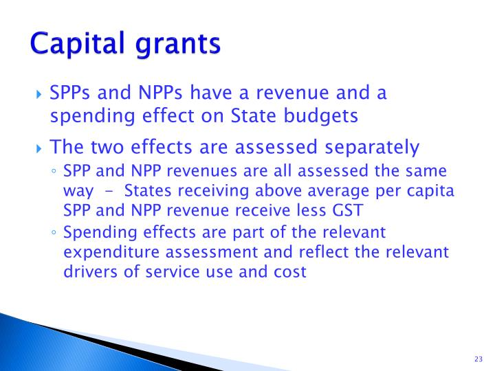 Capital grants