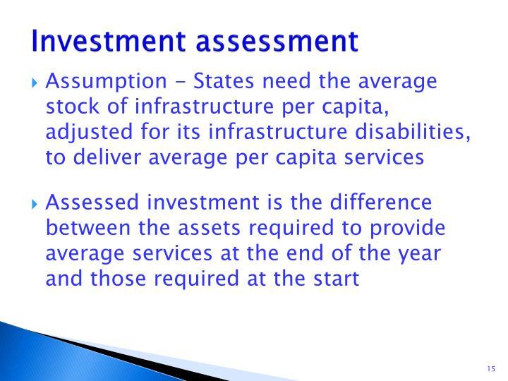 Investment assessment