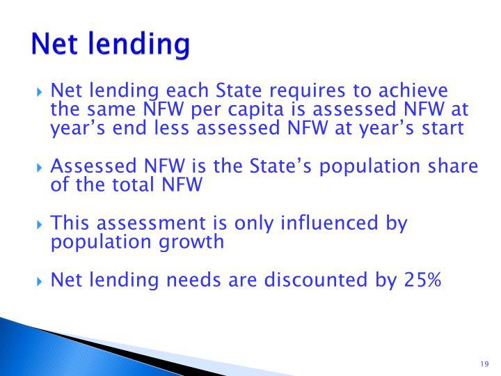 Net lending