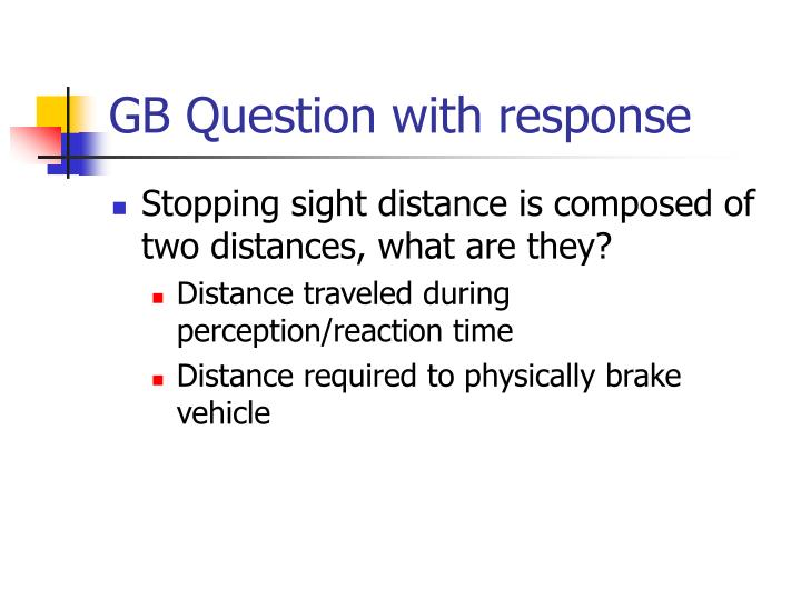 GB Question with response