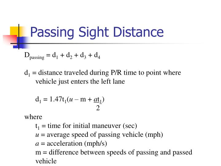 Passing Sight Distance