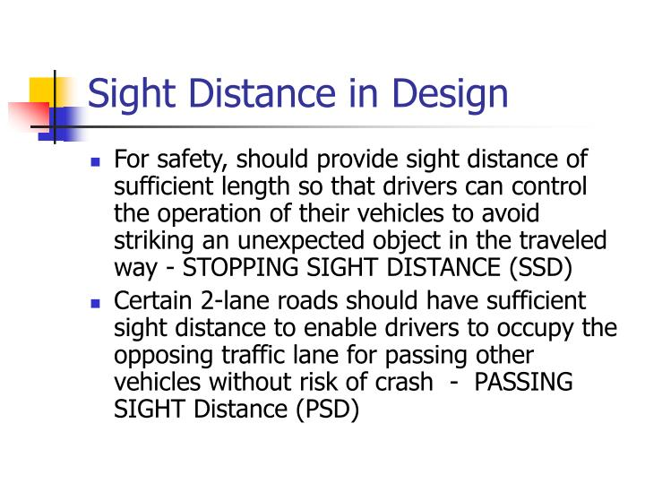 Sight Distance in Design
