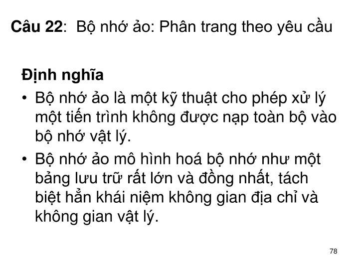 Câu 22